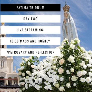 Fatima Triduum Live streamed